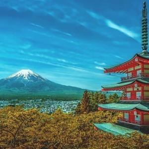 富士山と神社