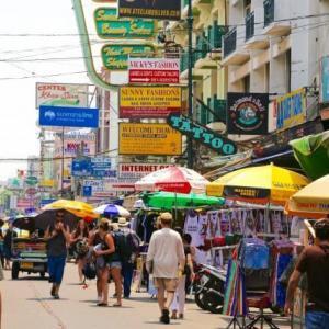 タイのカオサンロード