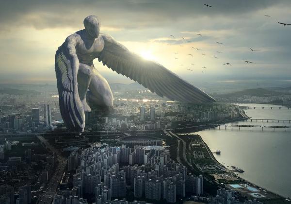 巨人が街を襲う