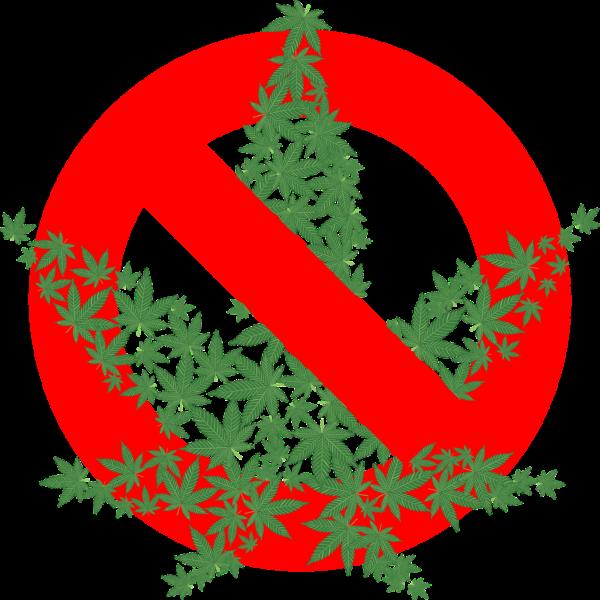 大麻を禁止する図