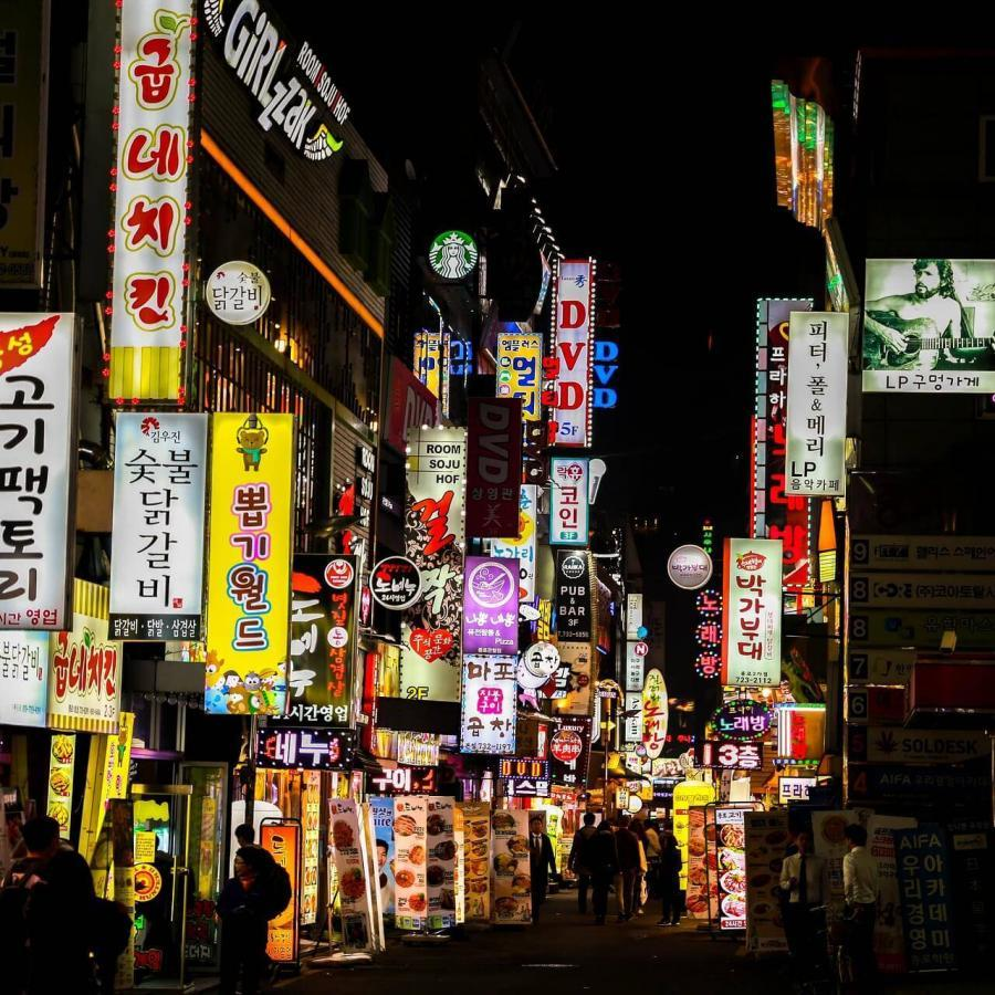 韓国の繁華街
