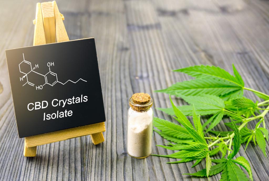 CBDアイソレートと大麻草