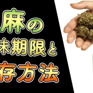 大麻の賞味期限と保存方法
