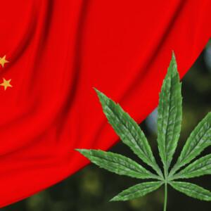 中国国旗と大麻